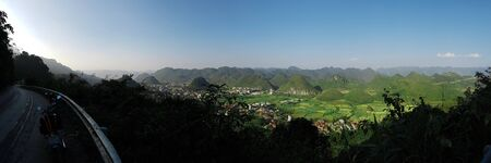 Mountains and nature in North Vietnam during the Ha Giang Loop