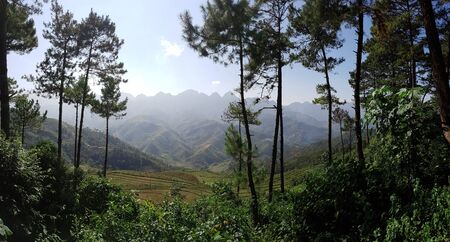 Mountains and nature in North Vietnams Ha Giang Loop