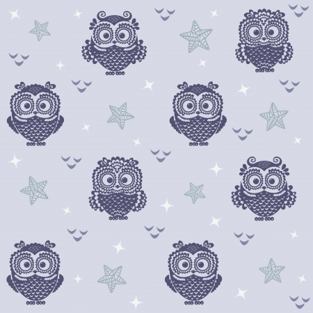 owl wallpaper 2 Vector