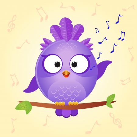 bird sing Stock Vector - 17218620