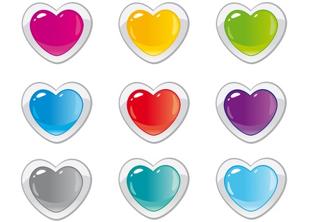 buttons hearts Stock Vector - 17218607
