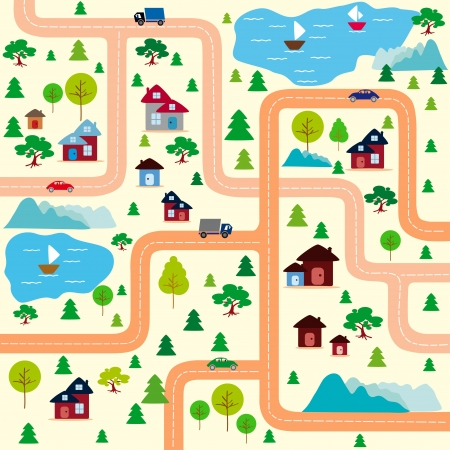 city map Stock Vector - 17218619