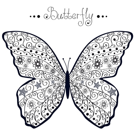 silhouette papillon: papillon Illustration
