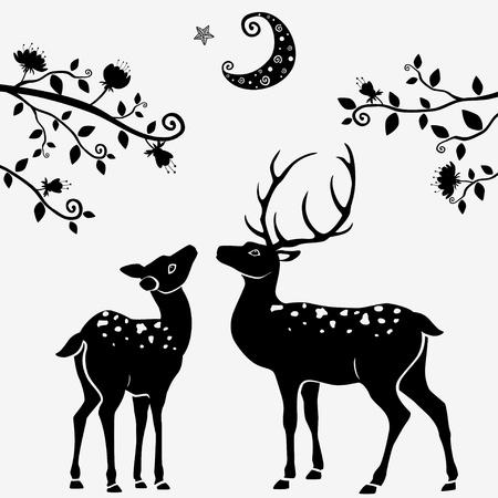 reindeer silhouette: deer
