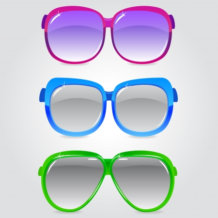 illustration of a set of sunglasses in different colors Stock Vector - 17806006