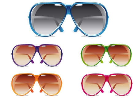 illustration of a set of sunglasses in different colors Stock Illustration - 17805999