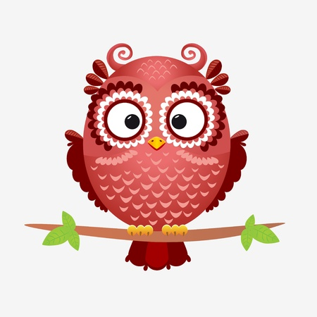 owl brown Stock Illustratie