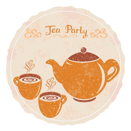 teapot: tea party Illustration