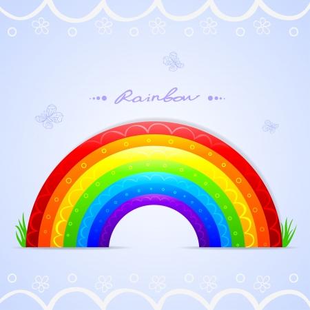 rainbow beautiful Vector