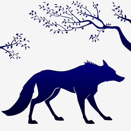 wolf outline Vector