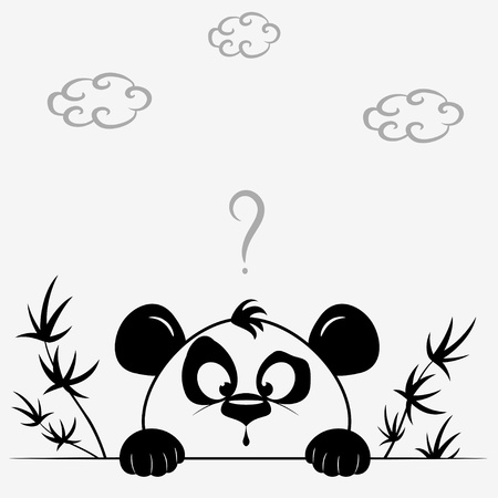 panda bear: Panda cute Illustration