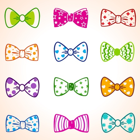 bow tie: bow color Illustration
