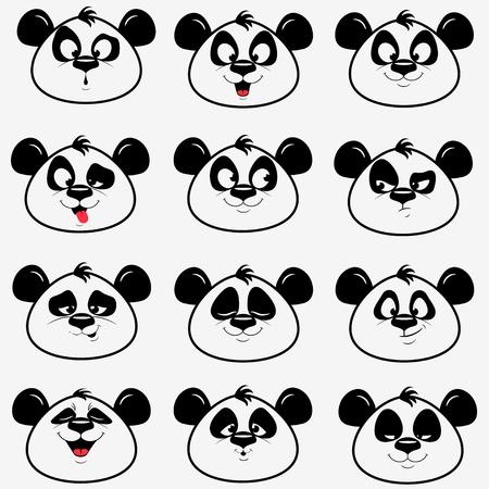 Panda smile Stockfoto
