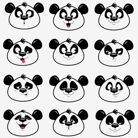 Panda smile Standard-Bild