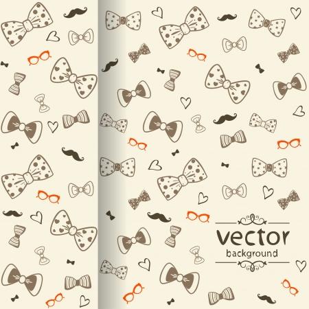 black tie: ilustraci�n de fondo sin fisuras silueta del arco Vectores