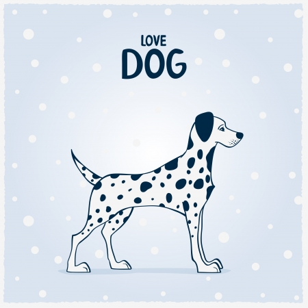 Dalmatian dogs vector illustration background Иллюстрация