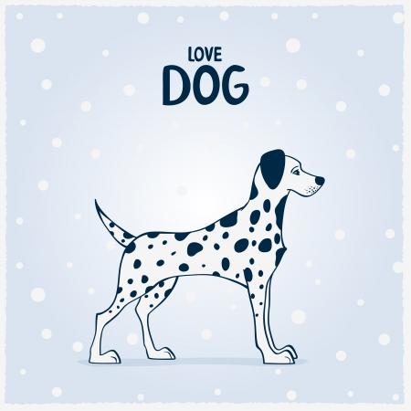Dalmatian perros ilustración vectorial