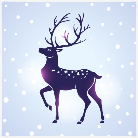 illustration silhouette of beautiful deer Vector