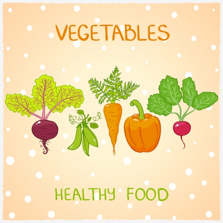beet root: Illustration of background useful vegetables Illustration