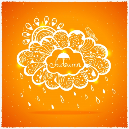 abstract illustration of a cloud with a place for text Vector