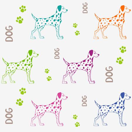 Dalmatian: Dalmatian dog seamless vector illustration background Illustration