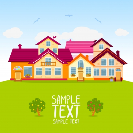 illustration with magnificent colorful houses Vector