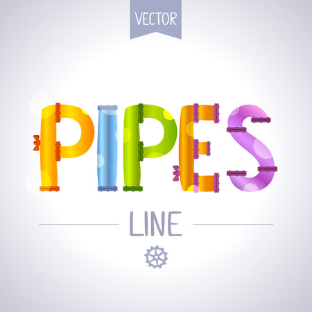 vector illustration inscription of pipes Vector