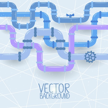 vector illustration abstract background of multicolored pipes Иллюстрация