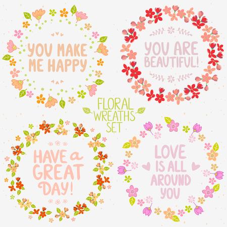 phrases: colecci�n dise�o elegantes hermosas ofrendas florales con frases positivas