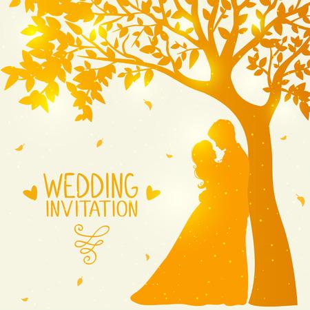 love under the tree Vector