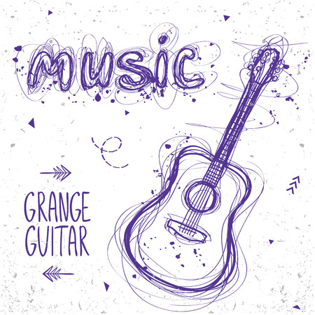 sloppy: beautiful sketch doodle guitar and word music of sloppy lines