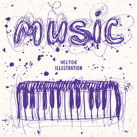 sloppy: beautiful sloppy sketch doodle piano and word music of messy lines