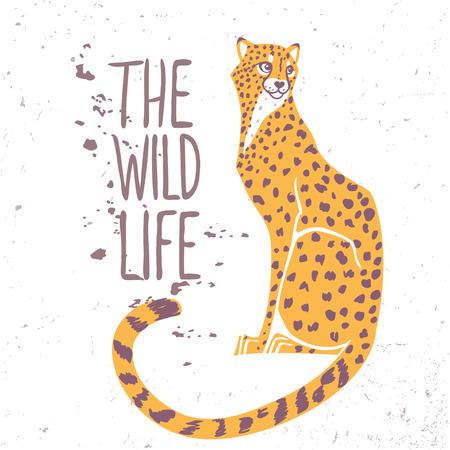 Amazing dier cheetah met voorbeeld tekst - het wild leven