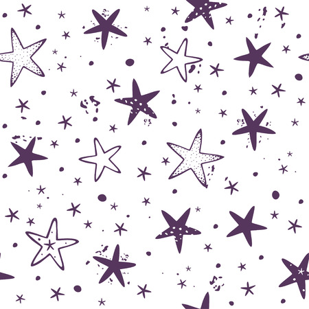 grung: Beautiful seamless pattern background with stars. Vector illustration