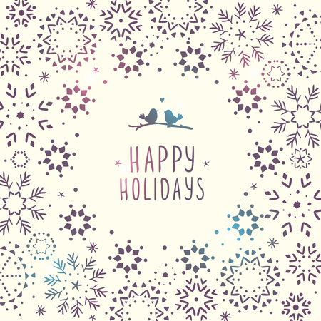 winter wallpaper: Amazing winter holiday wallpaper with snowflake for design. Vector illustration