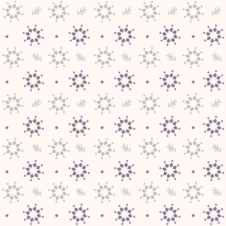 motivos navideños: Beautiful seamless pattern with simple snowflake circle. Vector illustration. Winter background for Christmas or New Year design. Winter motifs