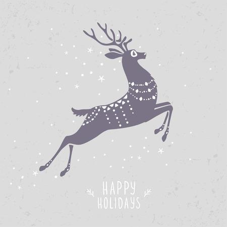 holiday: deer holiday Illustration