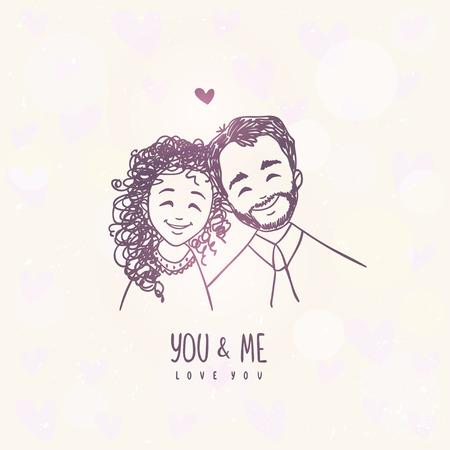 loving: happy together Illustration