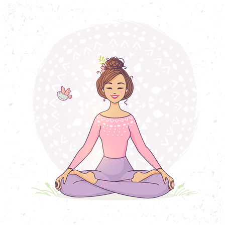 yogi: yoga lotus pose Illustration