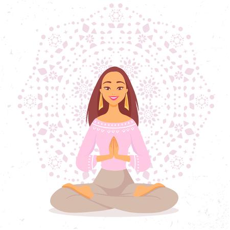 yogi: yoga girl mandala