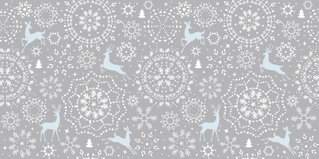 Deer pattern in grey illustration.