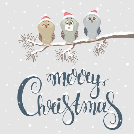owl christmas Фото со стока - 90107660