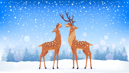 deer winter Illustration