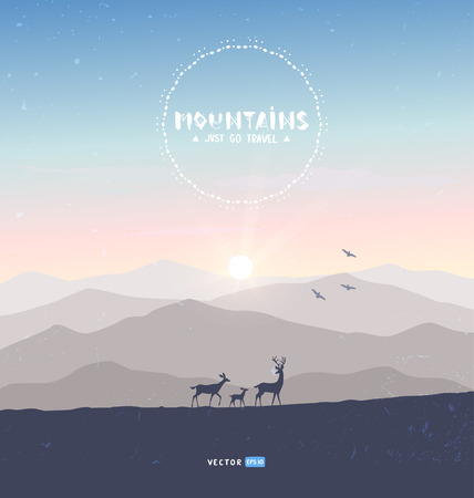 mountains deer