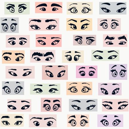 cartoon eyes colors Иллюстрация