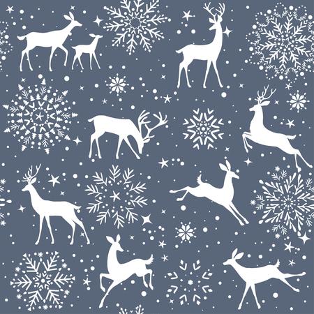 patrón de ciervo Ilustración de vector