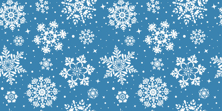 Beautiful seamless pattern with snowflake circle. Vector illustration. Winter background for Christmas or New Year design. Winter motifs Иллюстрация