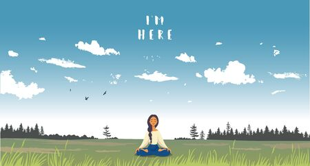 Meditation illustration background. Foto de archivo - 133739520