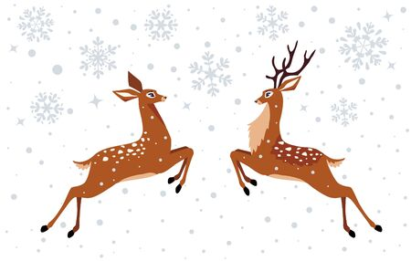 deer on a white background illustration