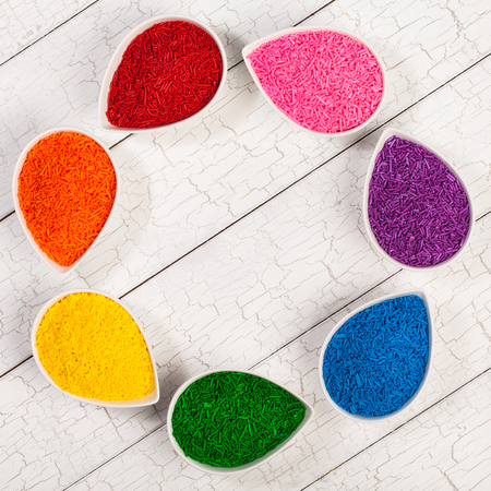 jimmies: Colourful sprinkles Stock Photo